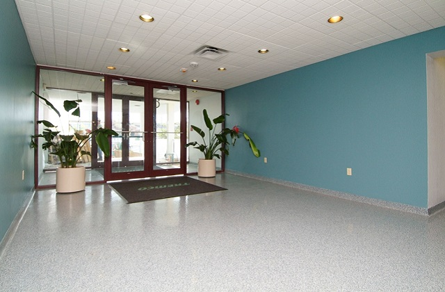stontec erf flooring in entryway of corporate building