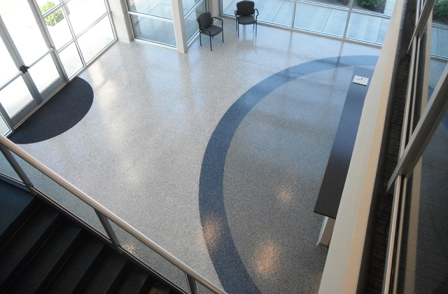 stontec erf flooring in corporate lobby of office building